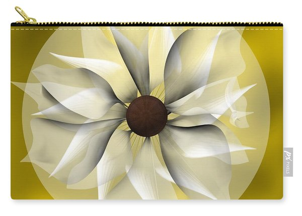 Yellow Soft Flower Carry-all Pouch