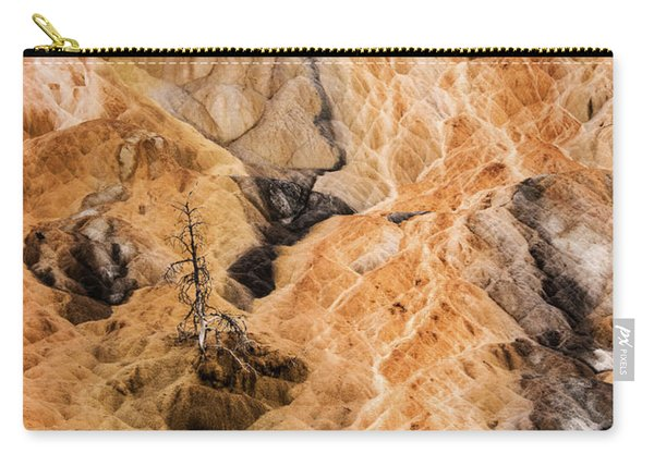 Carry-all Pouch featuring the photograph Yellow Stone National Park Abstract by Mae Wertz