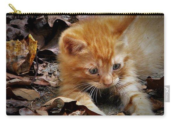 Yellow Tabby Kitten Carry-all Pouch