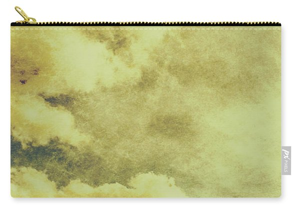 Yellow Toned Textured Grungy Cloudscape Carry-all Pouch