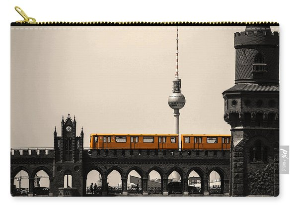 Yellow Train And A Tower Carry-all Pouch