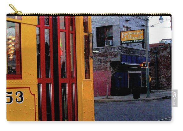 Yellow Trolley At Earnestine And Hazels Carry-all Pouch