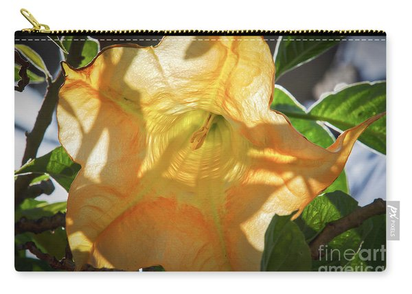 Yellow Trumpet Flower Carry-all Pouch