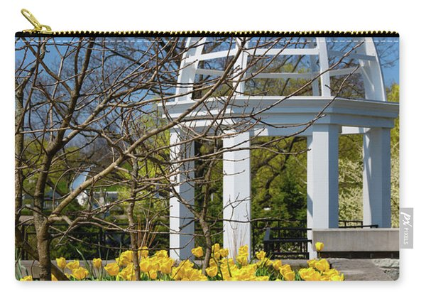 Yellow Tulips And Gazebo Carry-all Pouch
