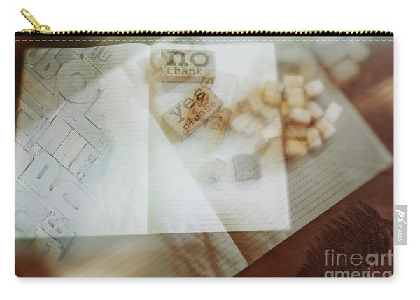 Carry-all Pouch featuring the digital art  Yes Or No by Ariadna De Raadt