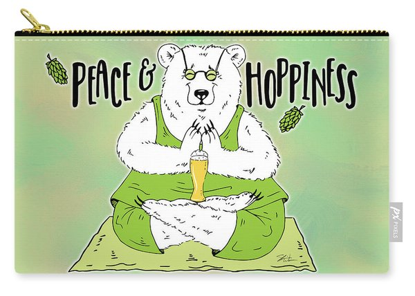 Yoga Beer Bear Carry-all Pouch