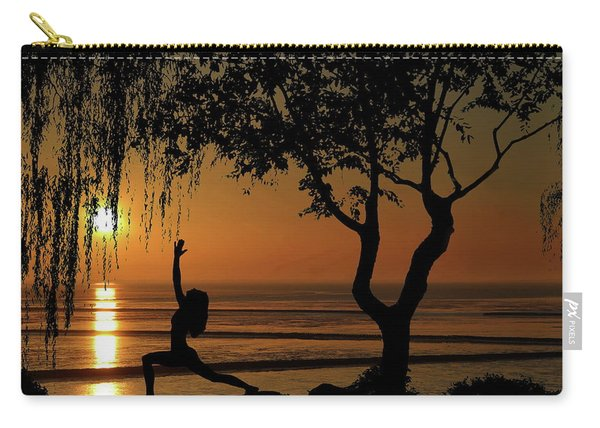 Yoga By The Bay At Sunset Carry-all Pouch