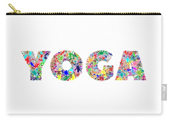 Yoga Word Art Carry-all Pouch