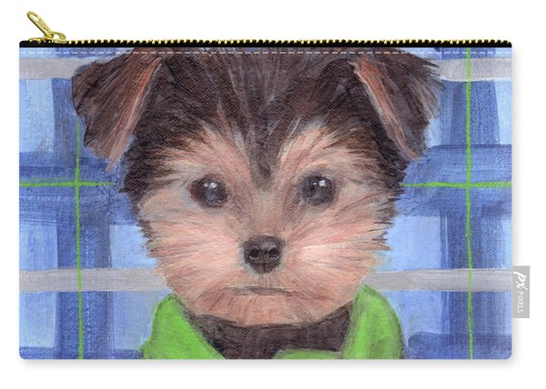 Yorkie Poo With Scarf Carry-all Pouch