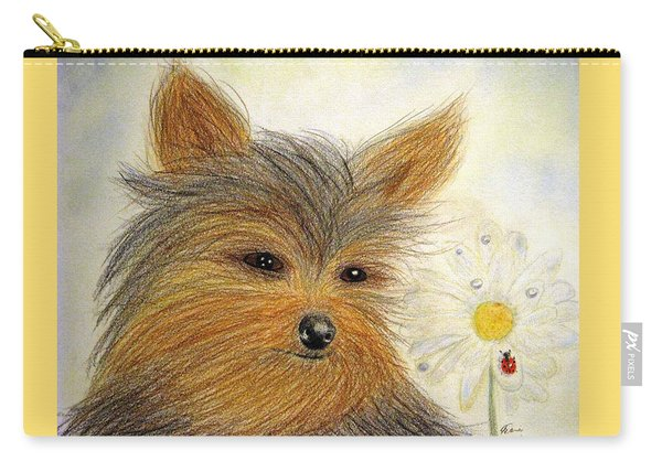 Yorkie Summer Fun Carry-all Pouch