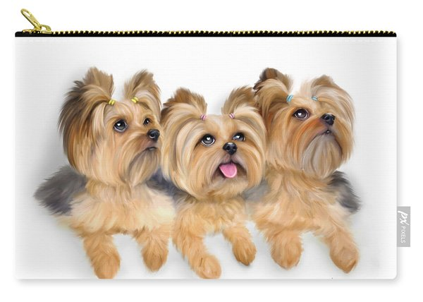 Yorkie Trio Carry-all Pouch