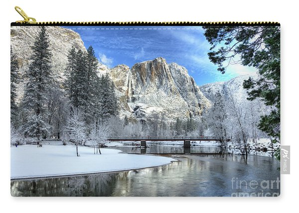 Yosemite Falls Swinging Bridge Yosemite National Park Carry-all Pouch