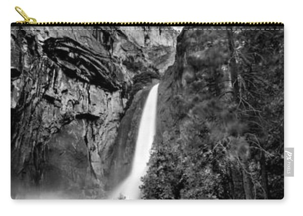 Yosemite Waterfall Bw Carry-all Pouch