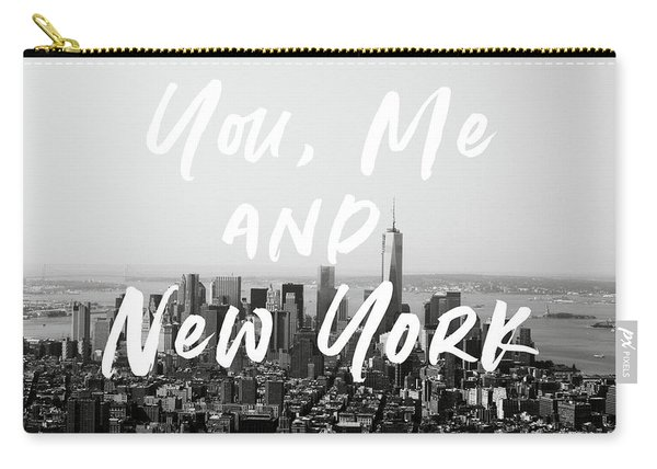 You Me And New York- Art By Linda Woods Carry-all Pouch