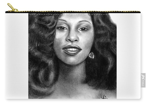 Young Chaka Khan - Charcoal Art Drawing Carry-all Pouch