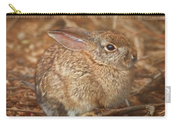 Young Cottontail In The Morning Carry-all Pouch
