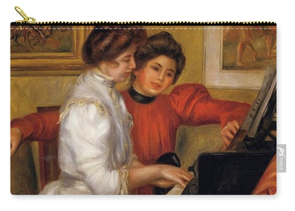 Young Girls At The Piano - 1892 Pierre-auguste Renoir Carry-all Pouch