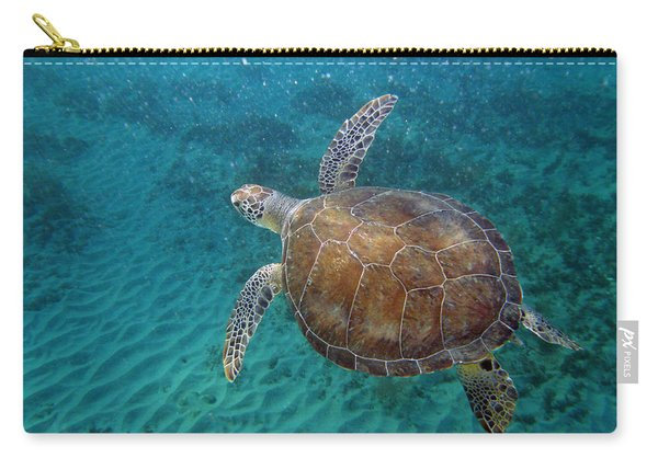 Young Green Turtle Carry-all Pouch