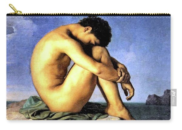 Young Man By The Sea Carry-all Pouch