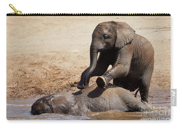 Young Playful African Elephants Carry-all Pouch