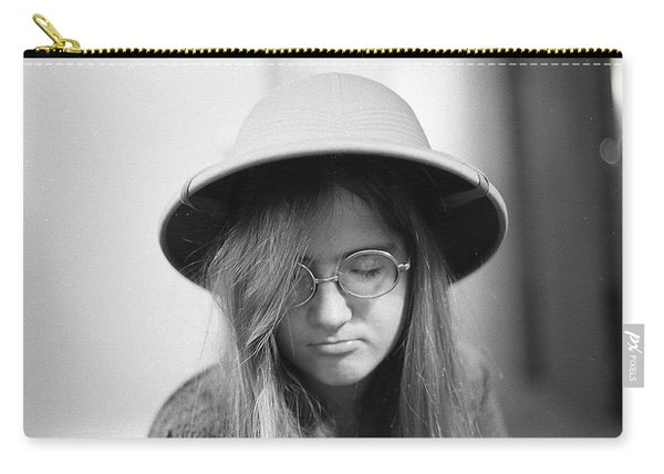 Young Woman With Long Hair, Wearing A Pith Helmet, 1972 Carry-all Pouch