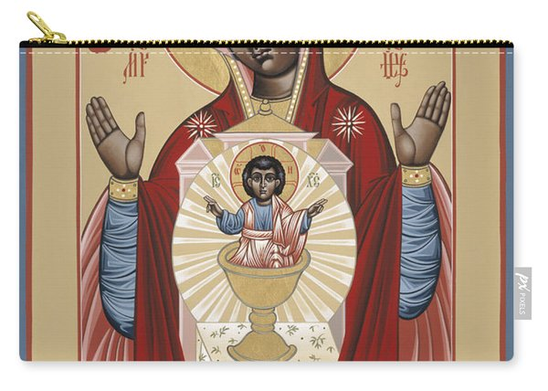 The Black Madonna Your Lap Has Become The Holy Table 060 Carry-all Pouch