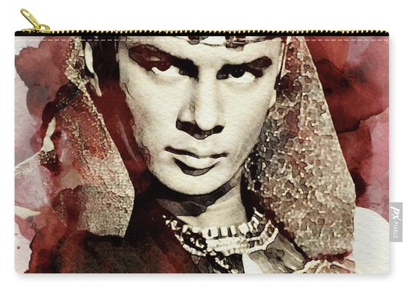 Yul Brynner, Vintage Actor Carry-all Pouch