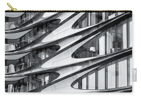 Carry-all Pouch featuring the photograph zaha hadid Architecture in NYC by Michael Hope