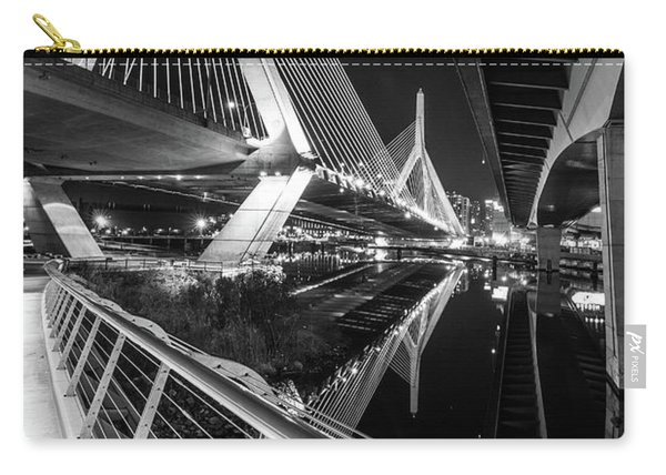 Zakim Bridge From Under The Leverett Connector Bridge Carry-all Pouch