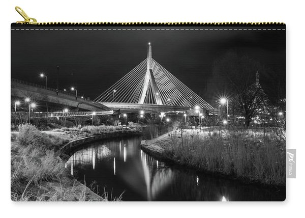 Zakim Bridge Reflecting Under A Moody Sky Carry-all Pouch