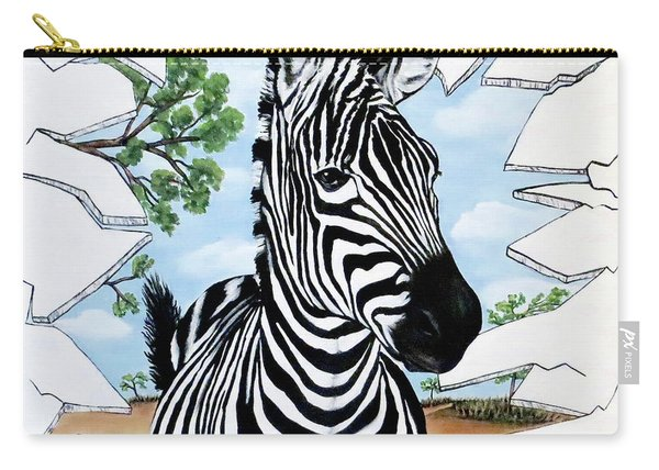 Zany Zebra Carry-all Pouch