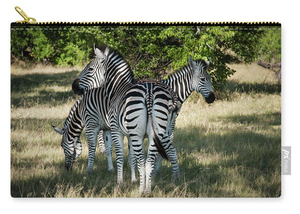 Three Zebras Carry-all Pouch