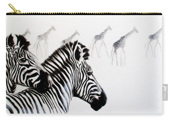 Zebra And Giraffe Carry-all Pouch