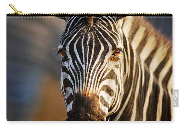 Zebra Close-up Portrait Carry-all Pouch