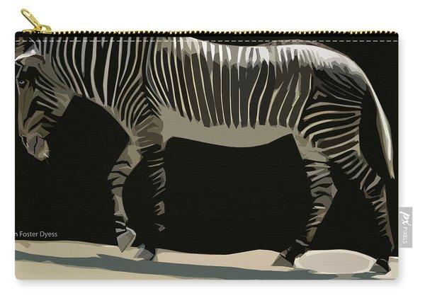 Zebra Design By John Foster Dyess Carry-all Pouch