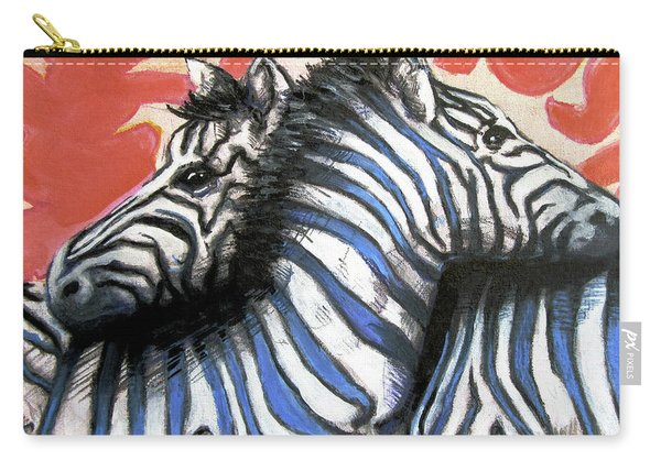 Zebra In Love Carry-all Pouch