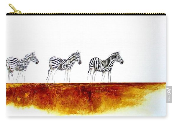 Zebra Landscape - Original Artwork Carry-all Pouch