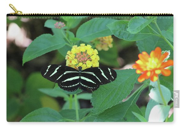 Zebra Longwing Butterfly Heliconius Charitonia Carry-all Pouch