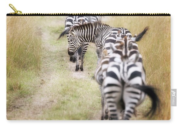 Zebra Migration In  The Masai Mara Carry-all Pouch