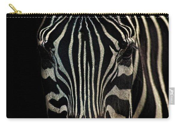 Zebra Portrait Carry-all Pouch