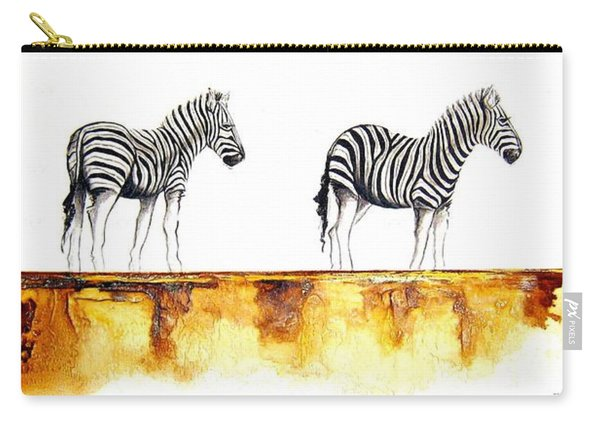 Zebra Trio - Original Artwork Carry-all Pouch