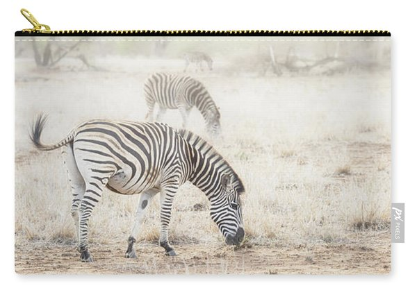Zebras In Dreamy Scene - Horizontal Banner Carry-all Pouch