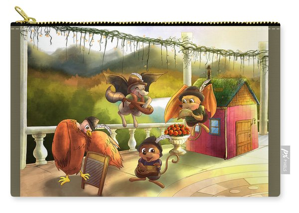 Zeke Cedric Alfred And Polly Carry-all Pouch