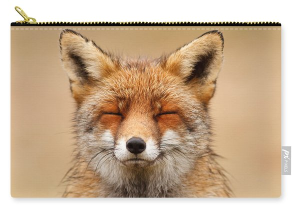 Zen Fox Red Fox Portrait Carry-all Pouch
