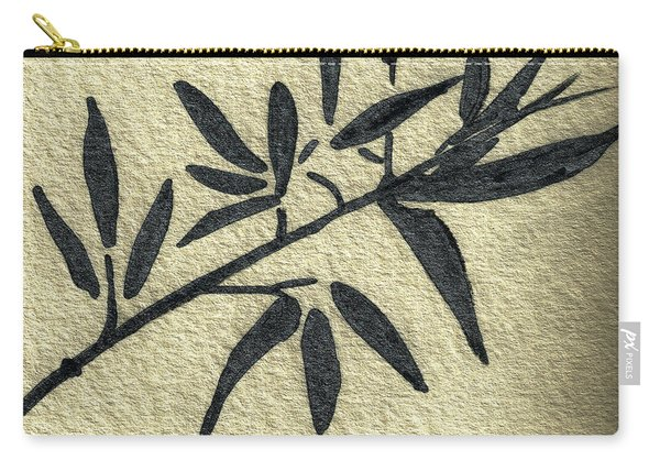 Zen Sumi Antique Botanical 4a Ink On Fine Art Watercolor Paper By Ricardos Carry-all Pouch