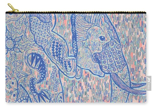 Zentangle Elephant-oil Carry-all Pouch