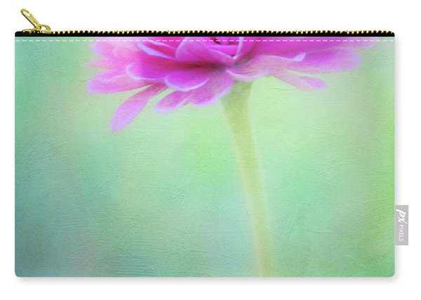 Painted Pink Zinnia Carry-all Pouch