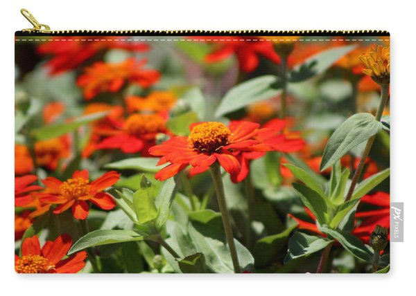 Zinnias In Autumn Colors Carry-all Pouch