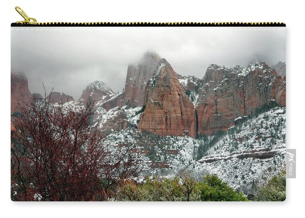 Zion Winter Skyline Carry-all Pouch