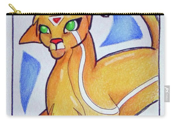 Carry-all Pouch featuring the drawing Zouyu by Loretta Nash